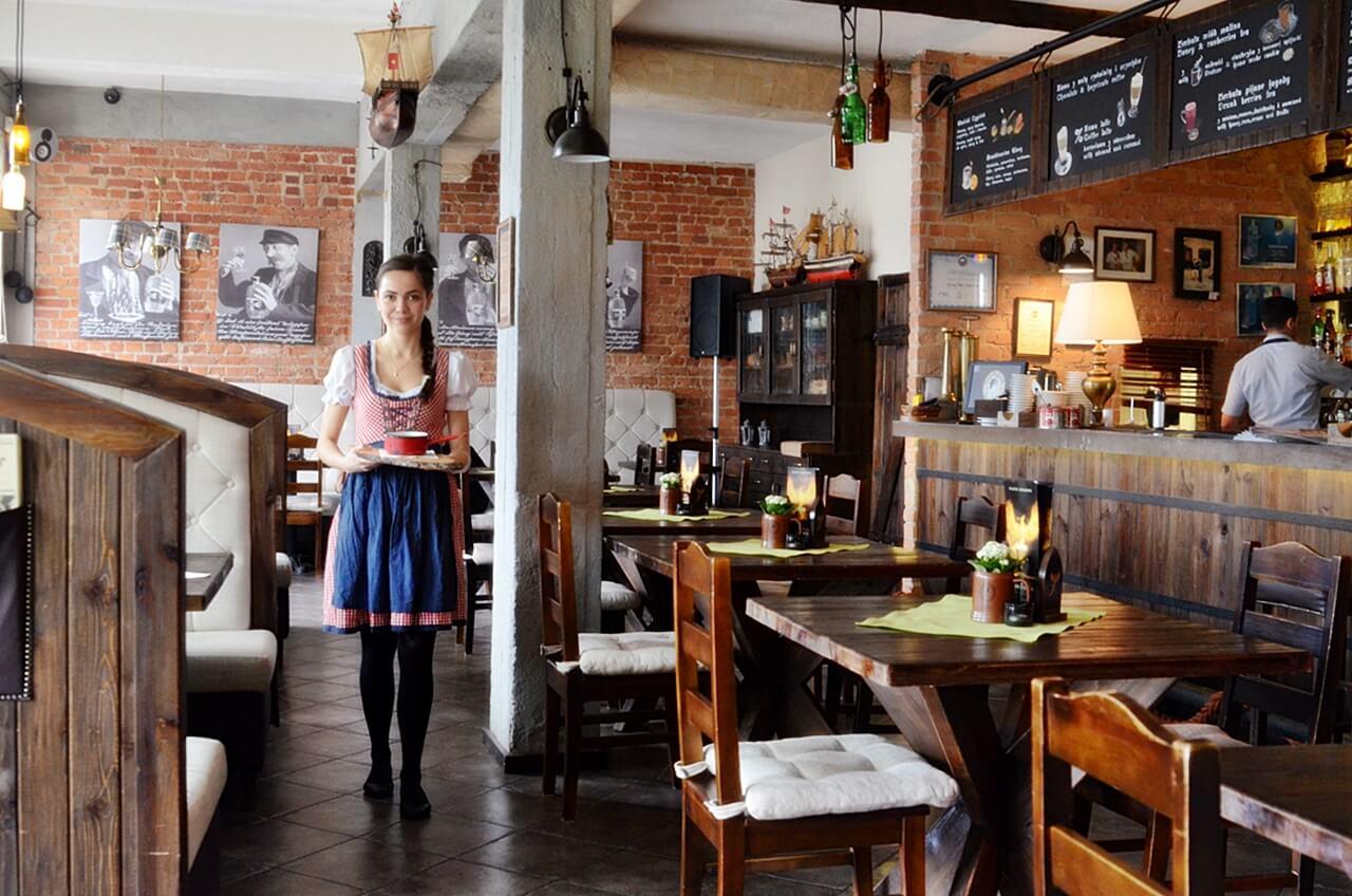 Wystrój  restauracji Gdański Bowke w Gdańsku