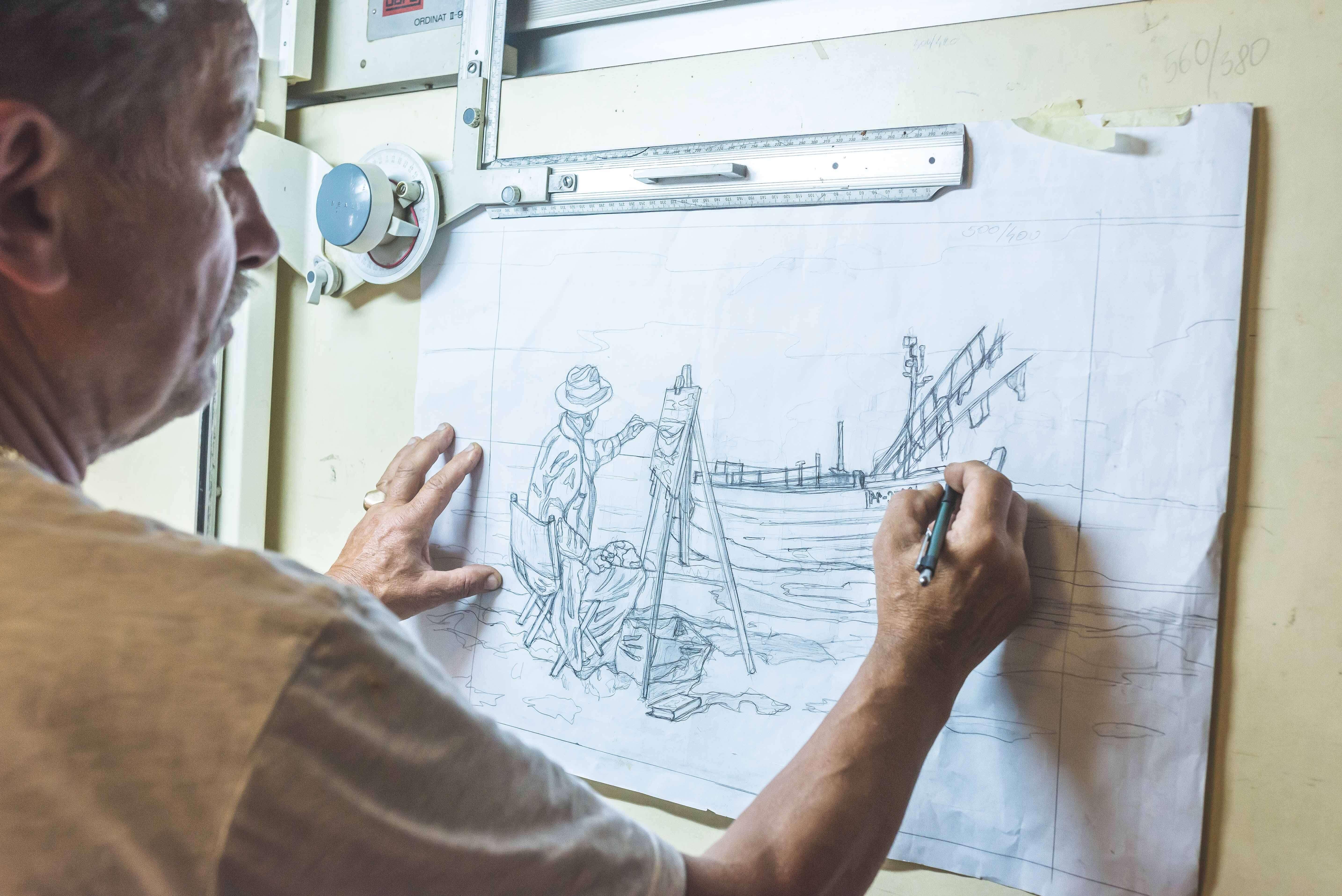 """Intarcja 3 1 - Zenon Pląskowski. An artist who """"paints"""" in wood"""