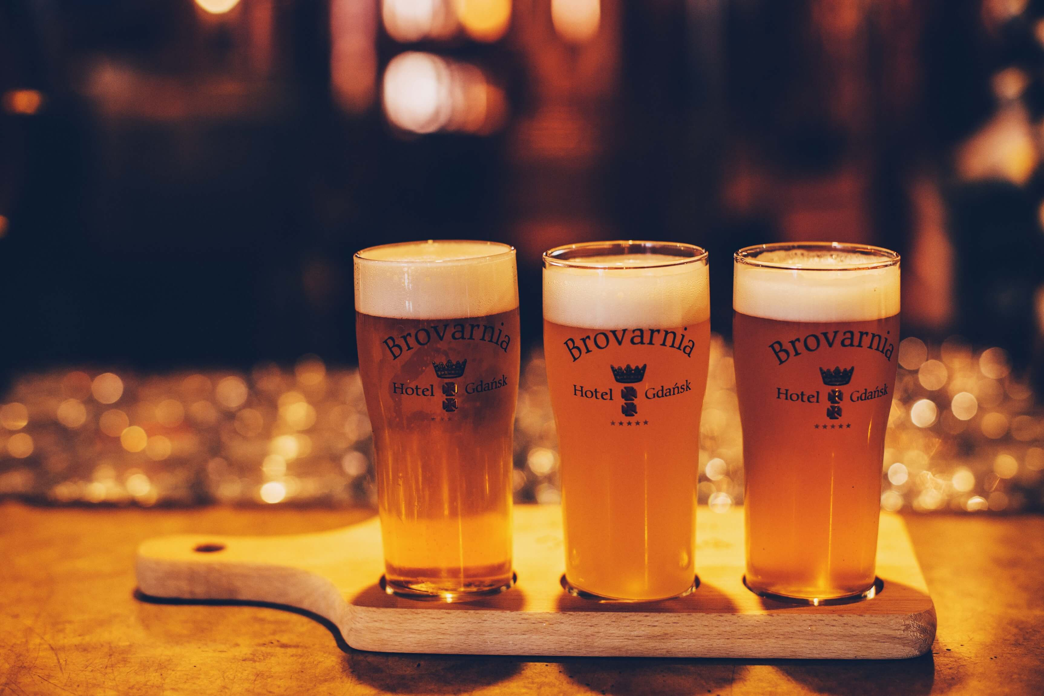 Beer in Brovarnia Gdańsk restaurant in Gdańsk