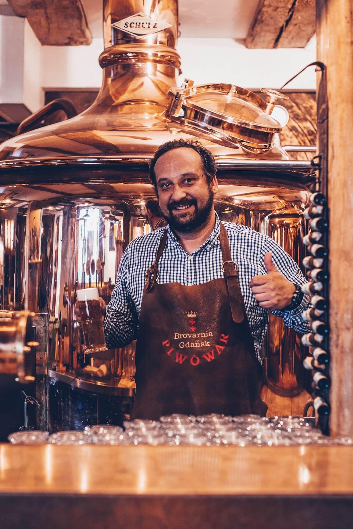 Brewer of Brovarnia Gdańsk restaurant in Gdańsk