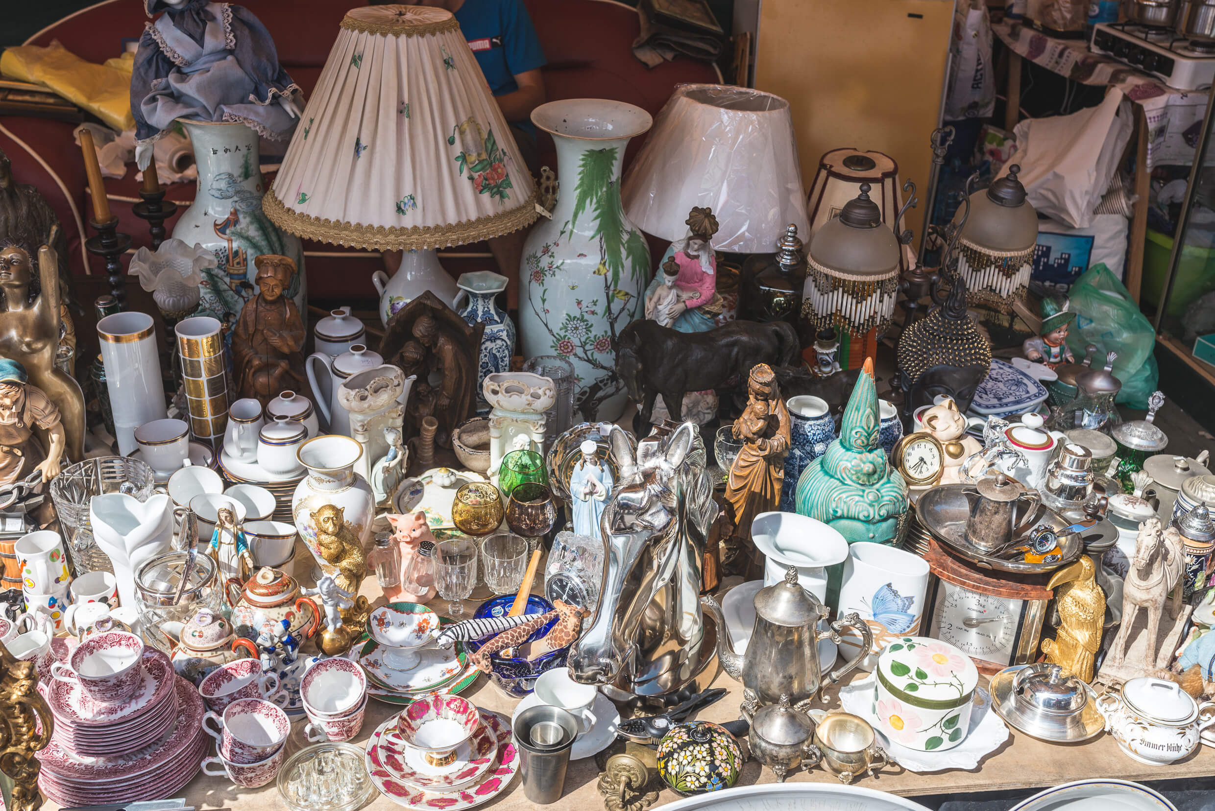 Antiques on the St. Dominic's Fair in Gdańsk