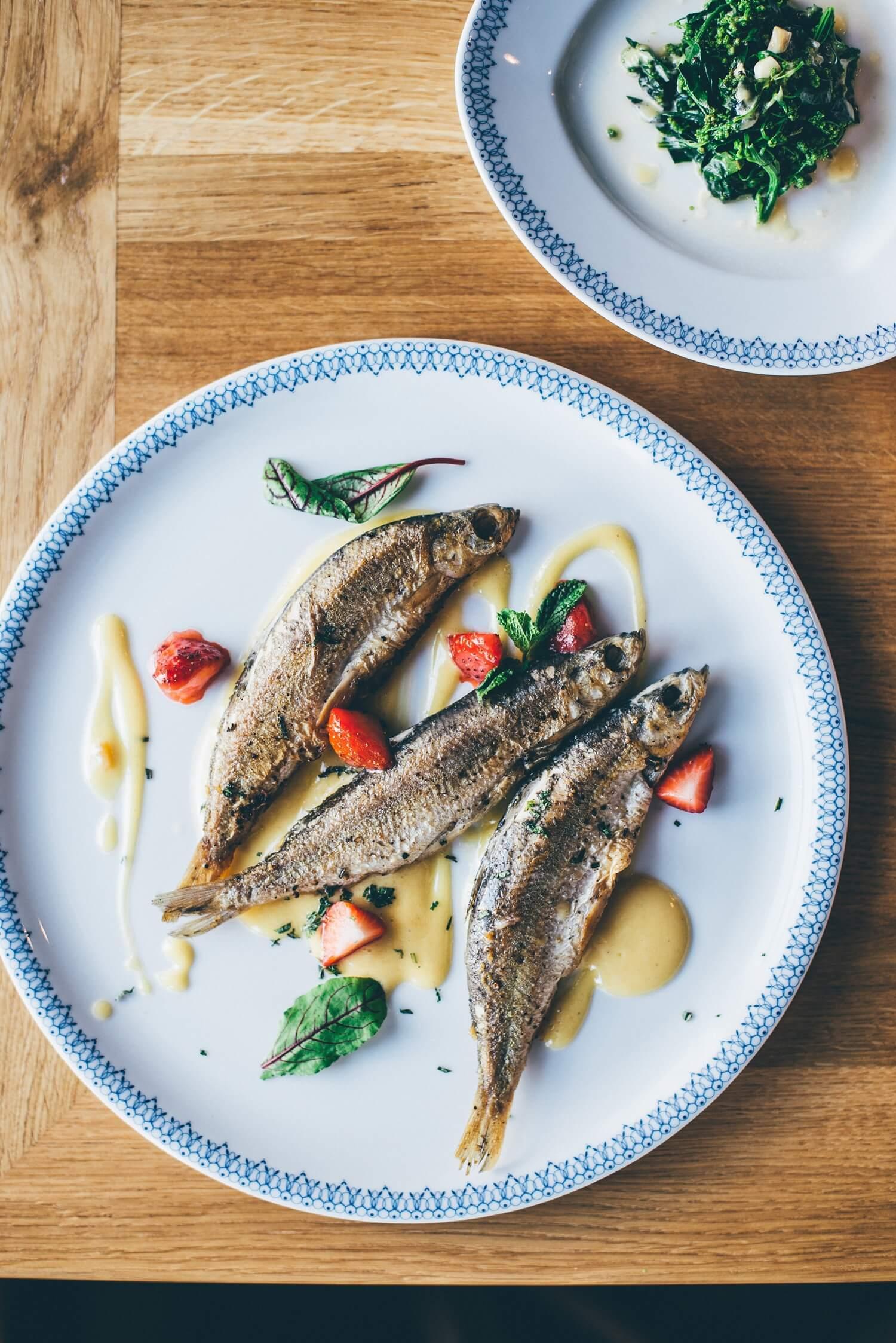 whitefish in cafe polskie smaki restaurant in Sopot