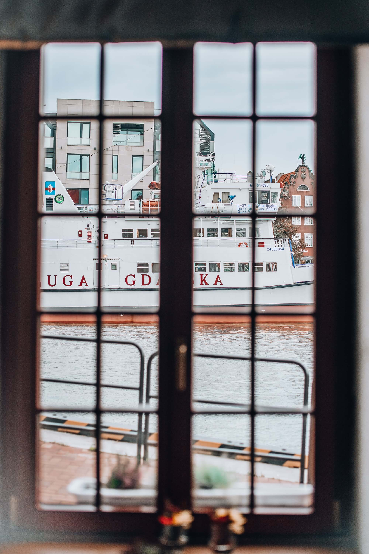 Widok z restauracji Filharmonia w Gdańsku