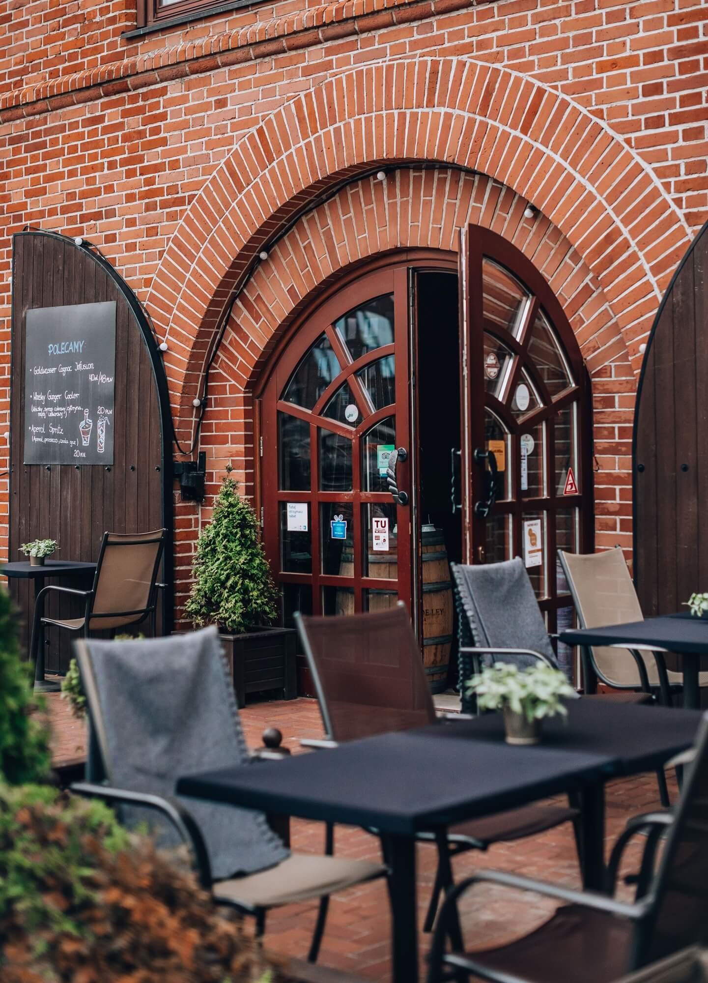 Ogródek restauracji Filharmonia w Gdańsku
