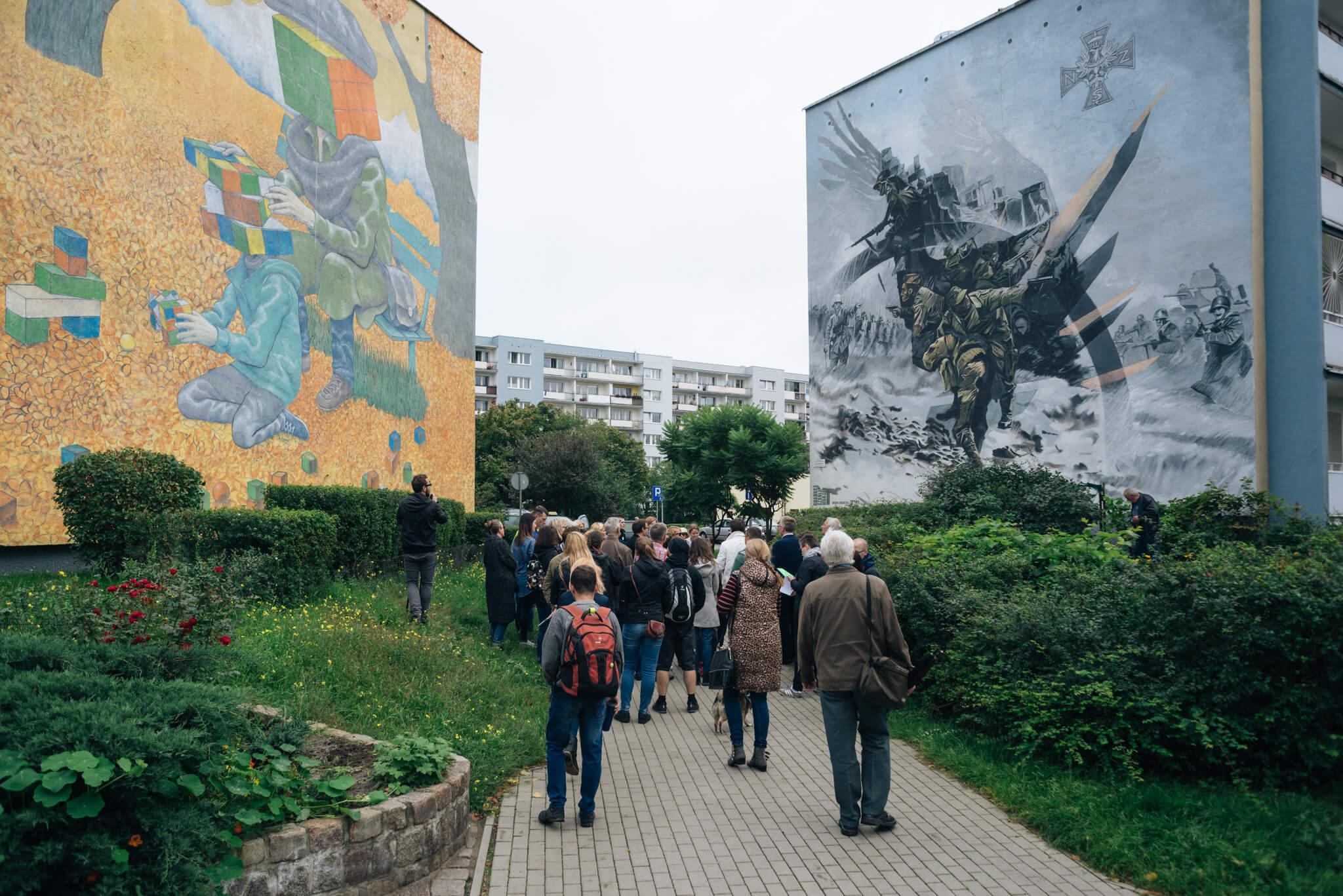 Murale na Zaspie w Gdańsku