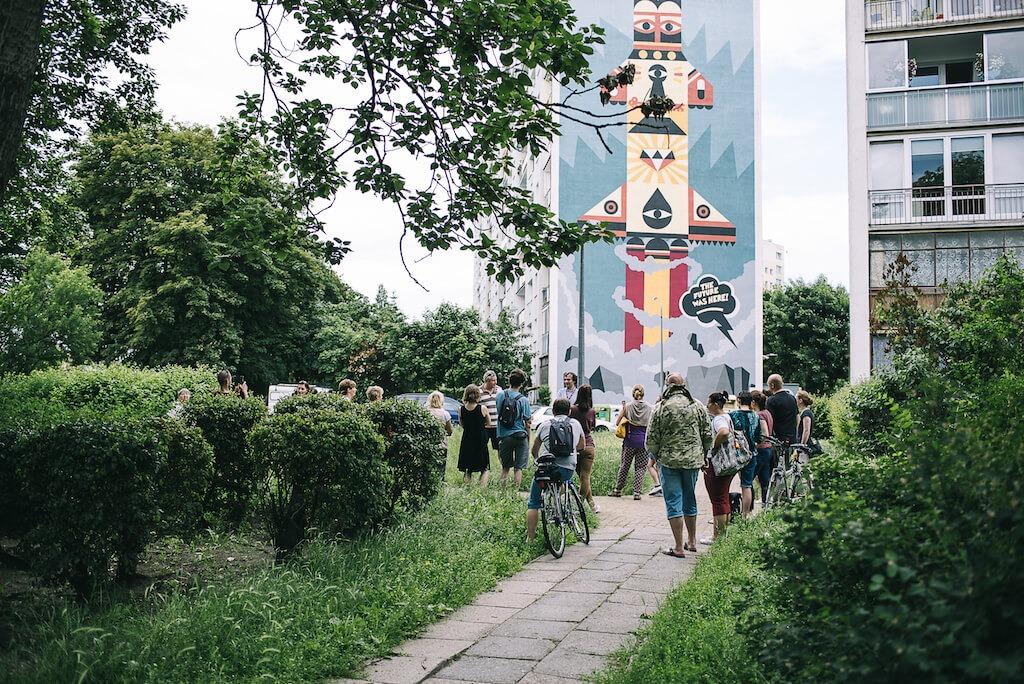 Lokalni Zaspa muralWallride fot.BartoszBanka - Murale na Zaspie. Spacer wśród gdańskich blokowisk