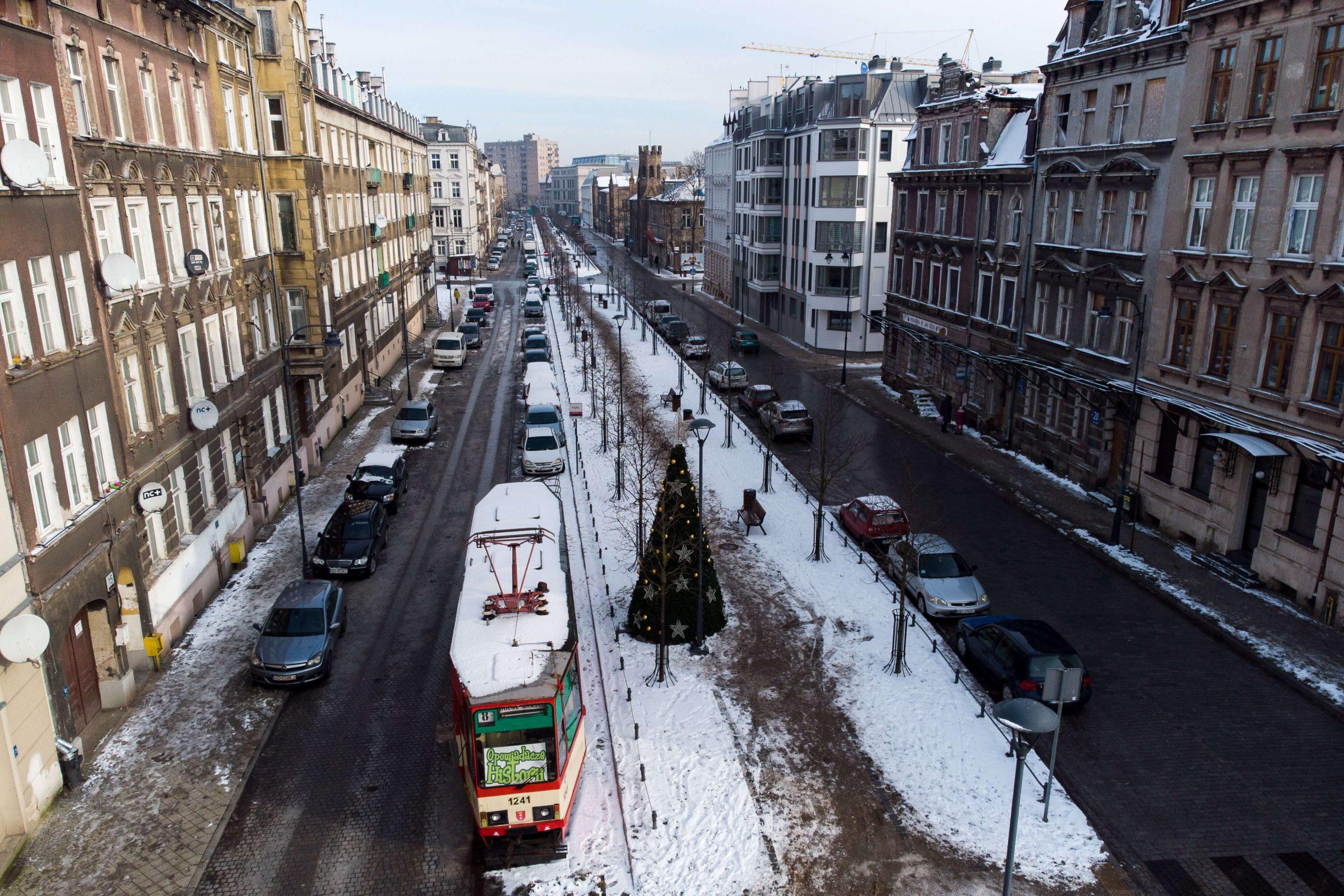 Gdańsk zimą z góry