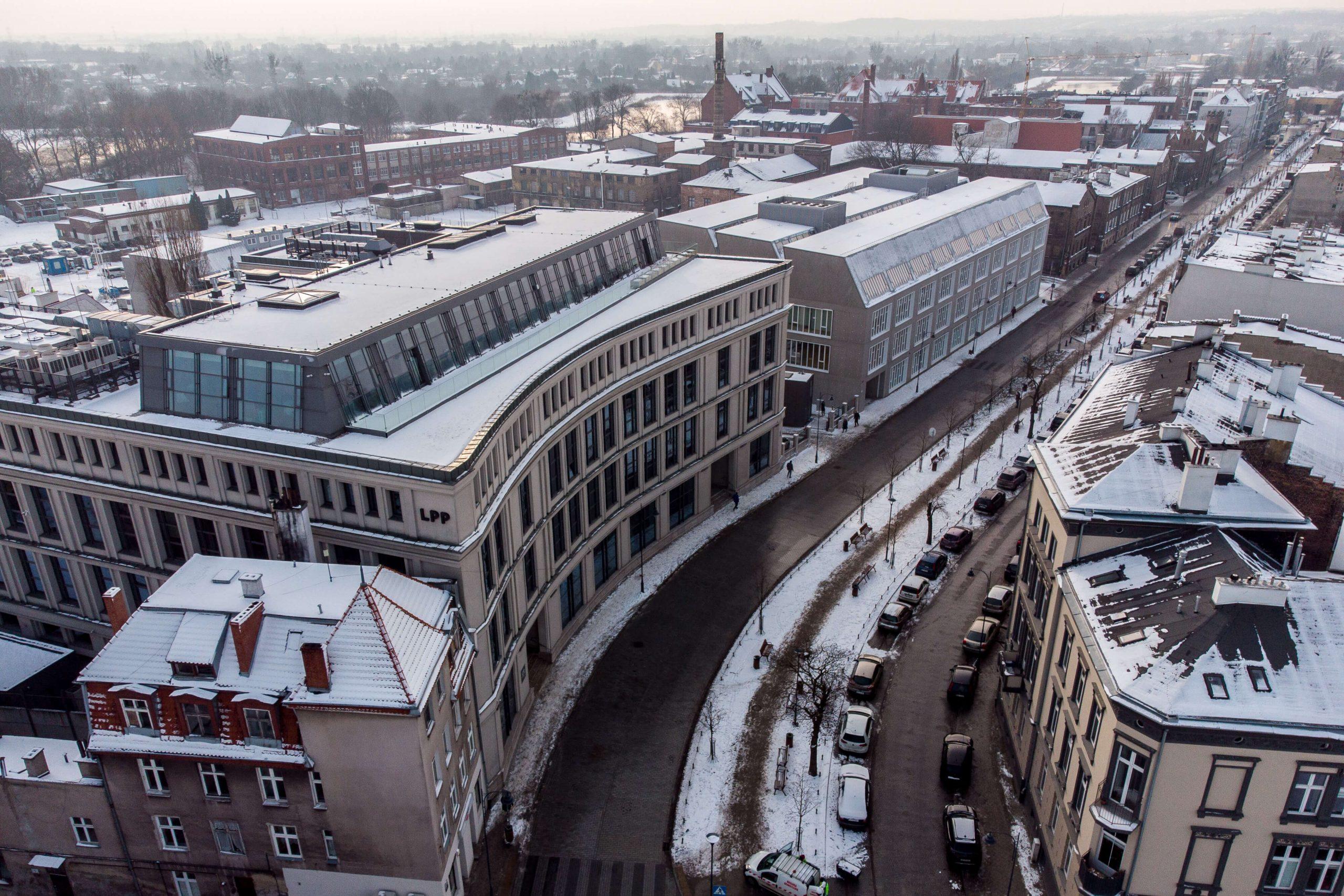 Gdańsk zimą - Budynek Monopolu Tytoniowego