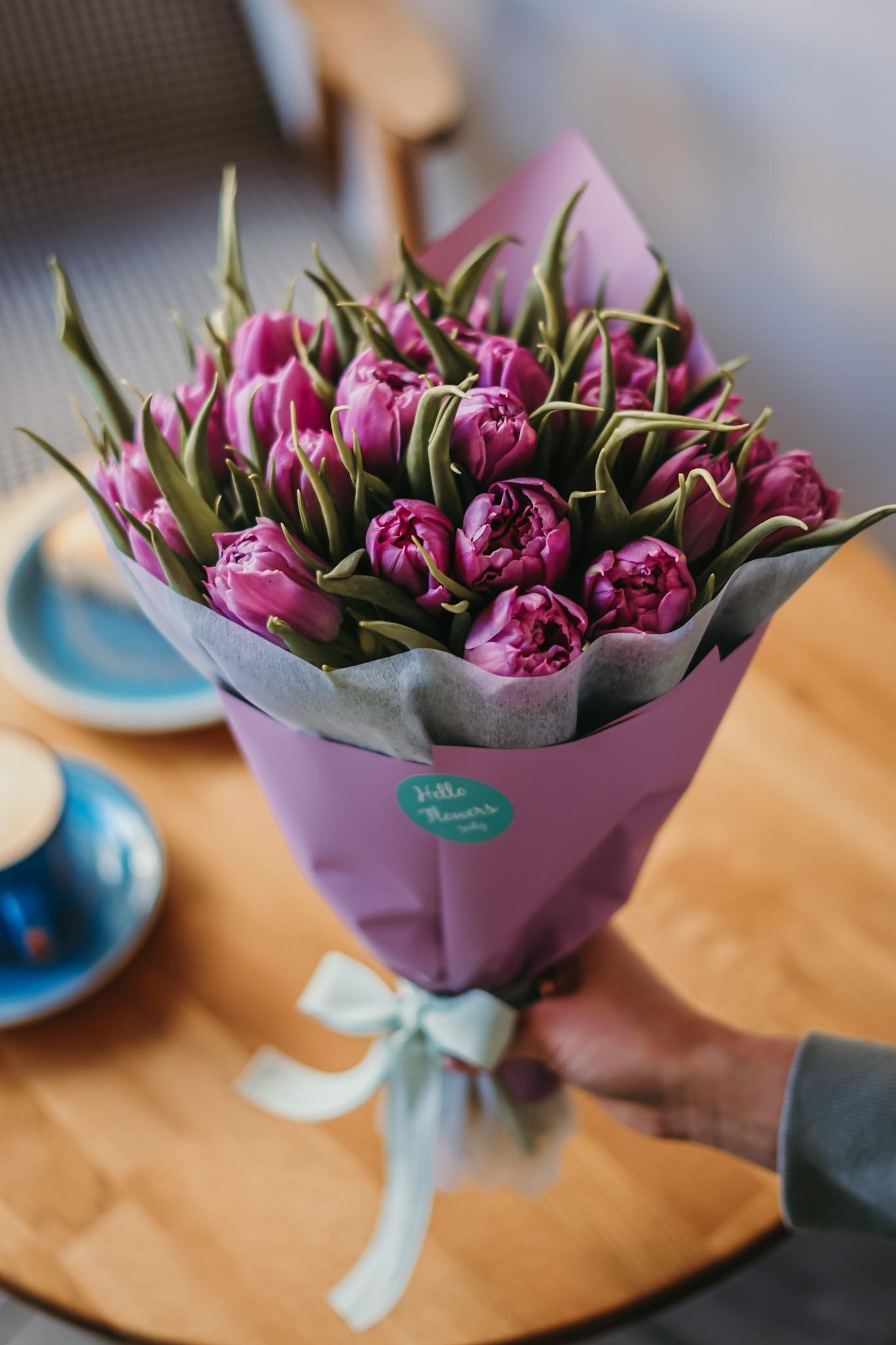 Tulipany w Hello Flowers w kwiaciarni z Gdańska