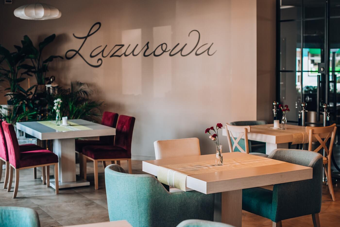 Wnętrze restauracji Lazurowej