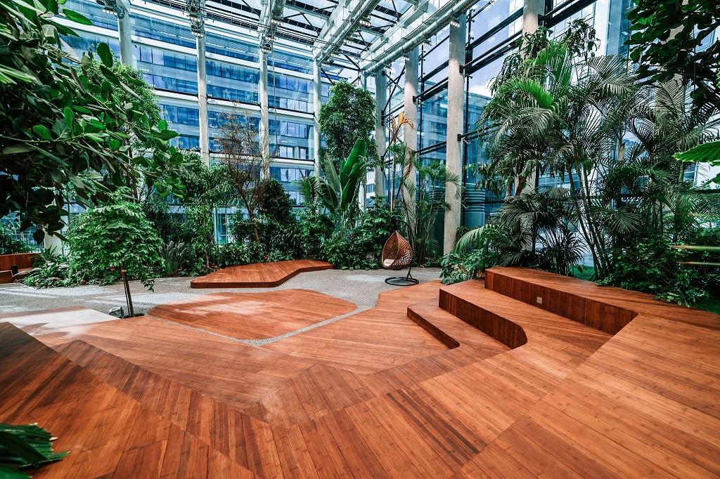 Olivia Garden 18 1 - Olivia Garden- a tropical garden in the heart of Tri-City's business